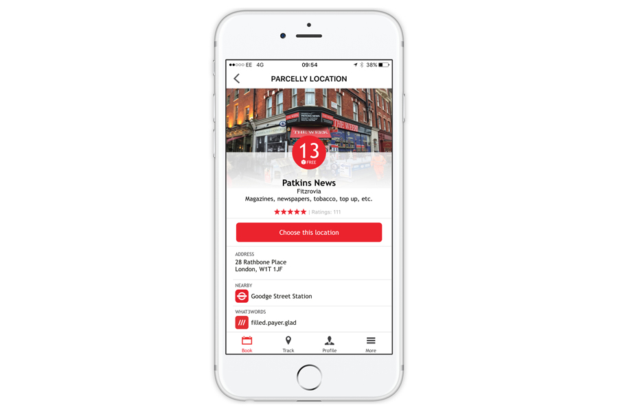 Parcelly what3words partnership Parcelly location screen IOS app example2