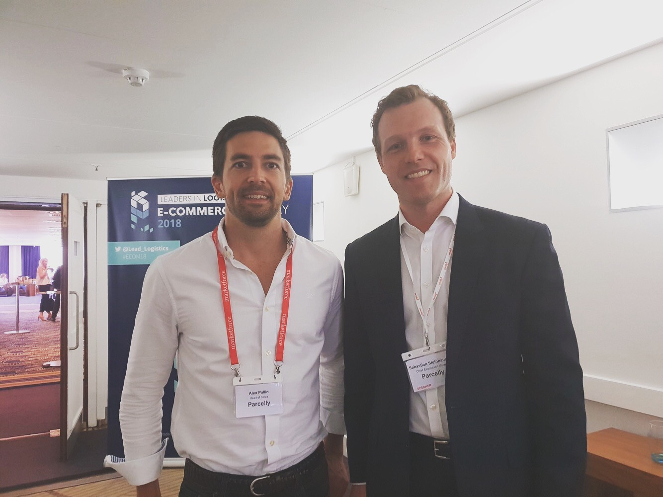 Seb and Alex Leaders in Logistics Conference 2018