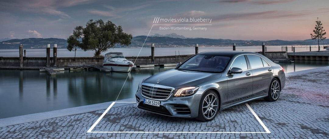 Mercedes Benz GPS voice navigation using what3words parcelly blog