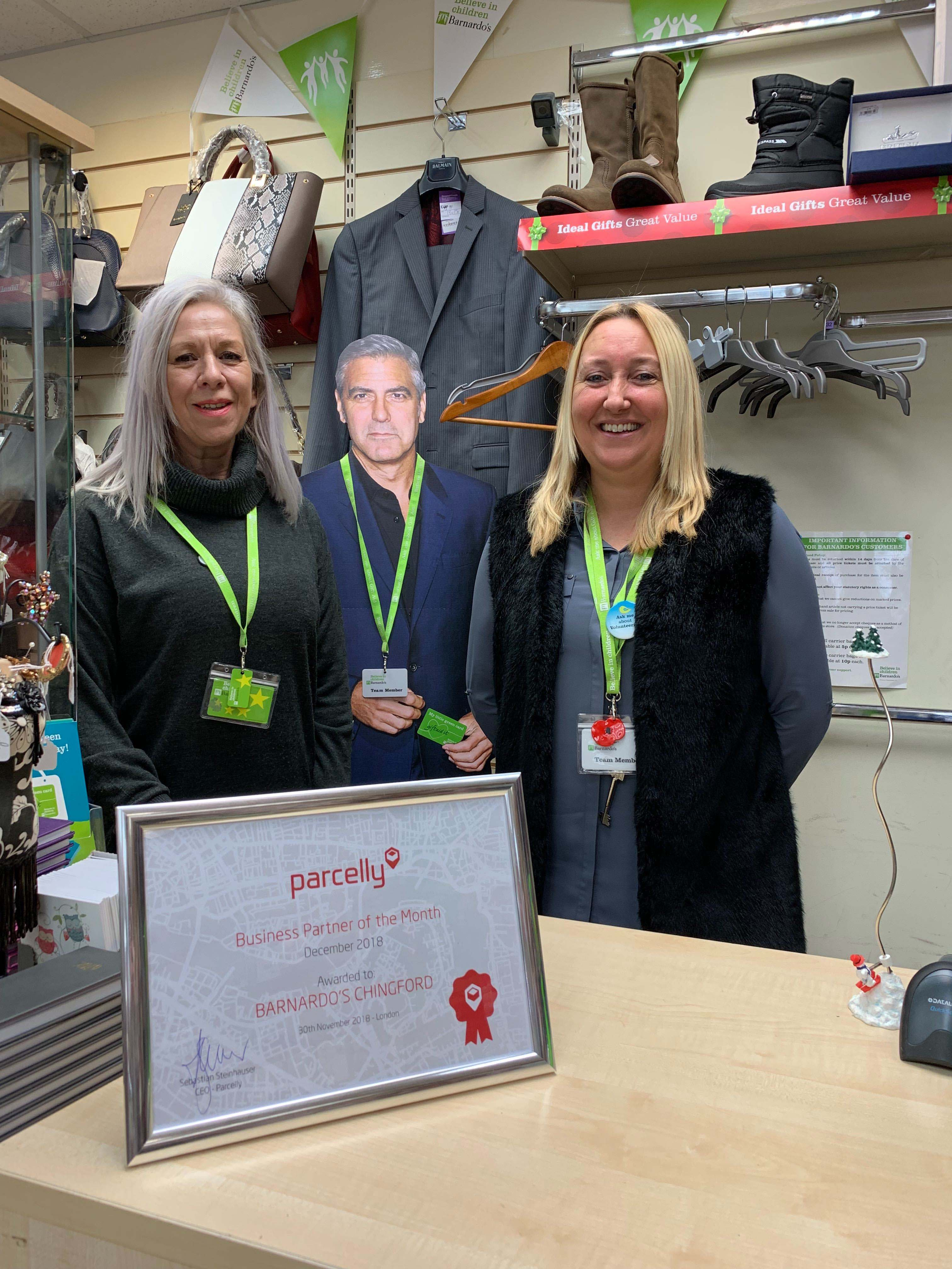 Parcelly Location of the Month Barnardos Chingford