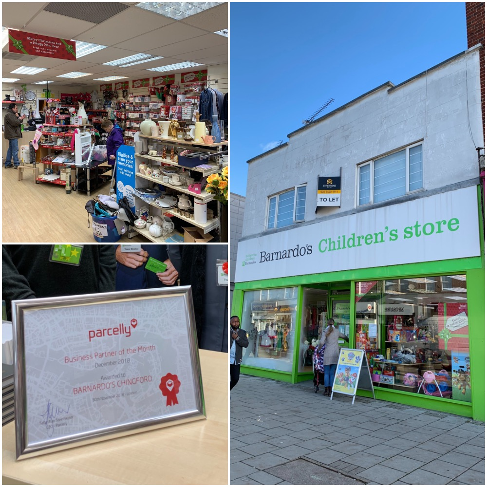 Parcelly Location of the Month Barnardos Chingford Collage