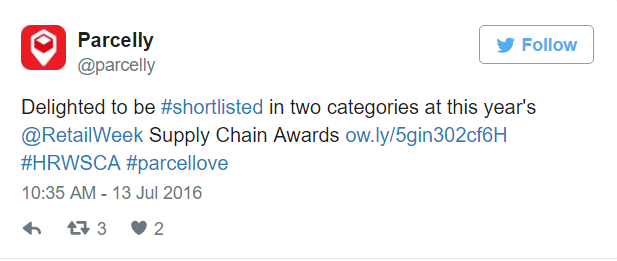Hermes Retail Week Awards twitter image